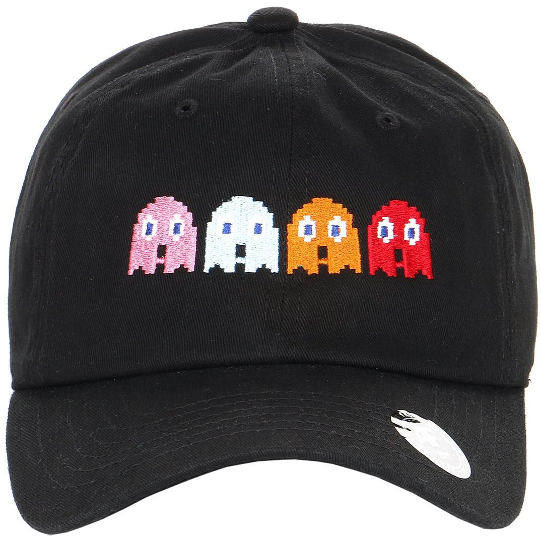Embroidered Pixelated Pac Man Ghost Characters Dad Hat