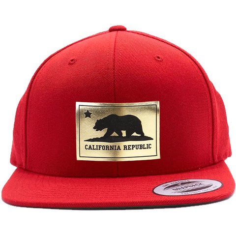 California Republic Gold Shining Leather Patch