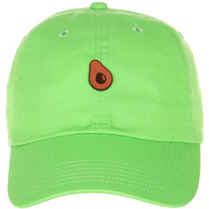 Mini Avocado Leather Cut Out Patch on Unstructured Dad Hat