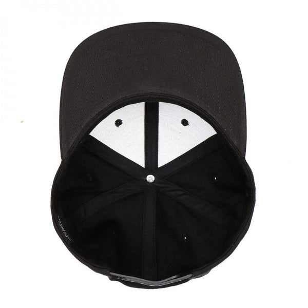 Flexfit Yupoong The Classic 6 Panel Snapback Custom Black