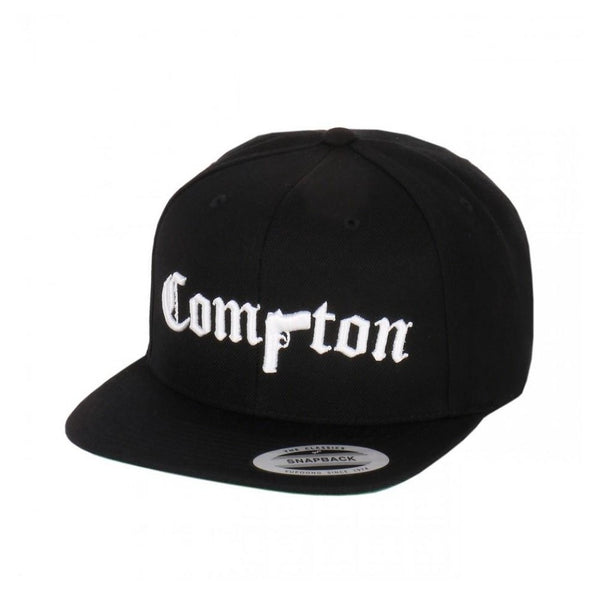 Compton Pistol Embroidered Flat Bill Adjustable Yupoong Snapback By Flexfit