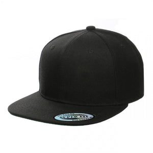 Blank Plain Snapback Flat Bill - Various Solid Colors