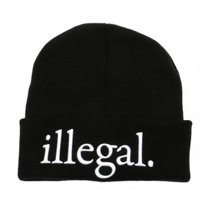 Illegal Embroidered Beanie