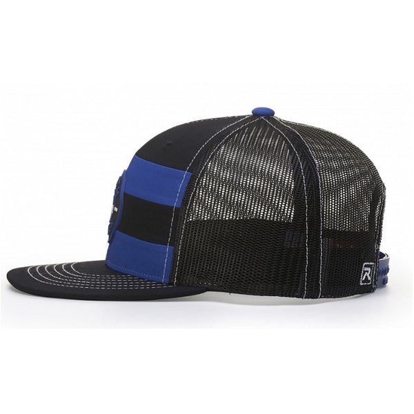 Richardson Striped Front Mesh Back Snapback with Adjustable Plastic Snap
