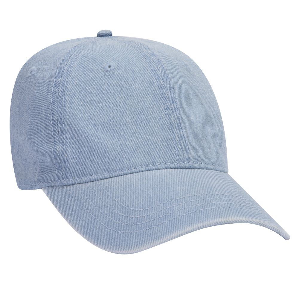 Garment Washed Pigment Dyed Denim Six Panel Low Profile Dad Hat