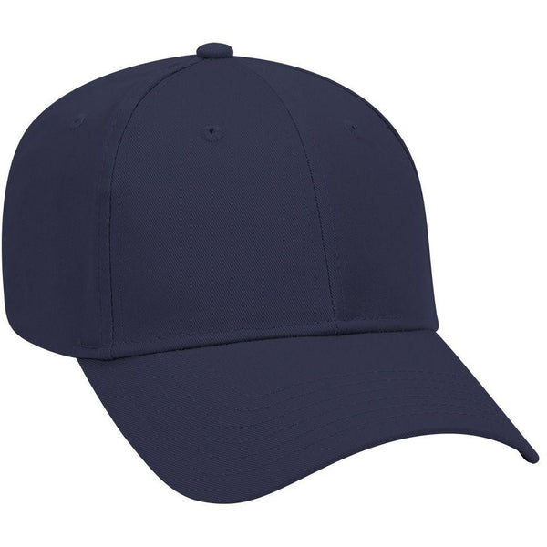 Cotton Blend Twill Six Panel Low Profile Baseball Cap