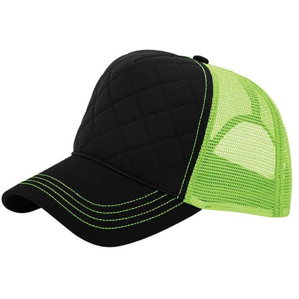Fashion Quilted Trucker Hats 2 Tone