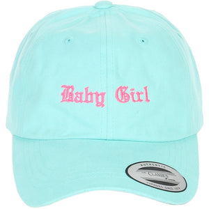 Embroidered Baby girl Logo on Yupoong and  Unstructured Dad Hat