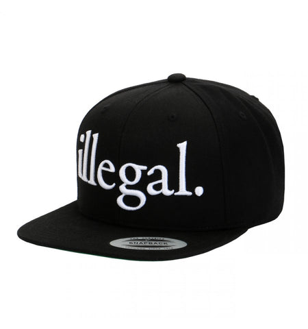 Illegal Embroidered Adjustable Snapback