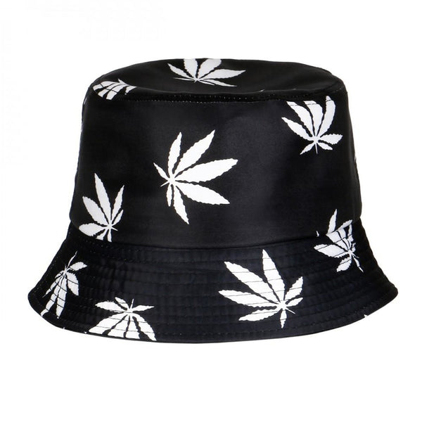 Marijuana Weed Print Summer Bucket Hat