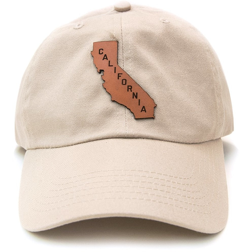 California Leather Patch on Unstructured Dad Hat