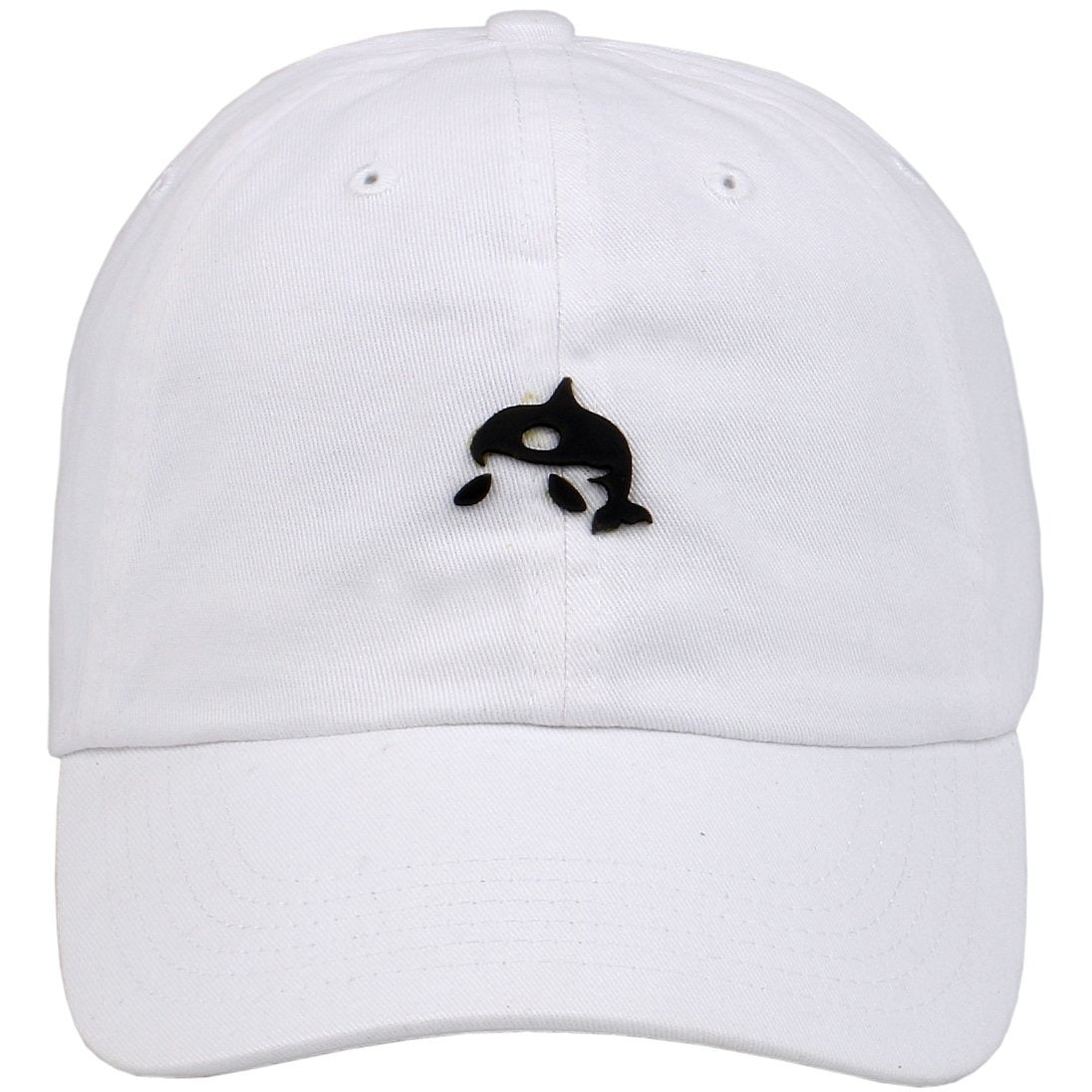 Mini Whale Leather Cut Out Patch on Unstructured Dad Hat