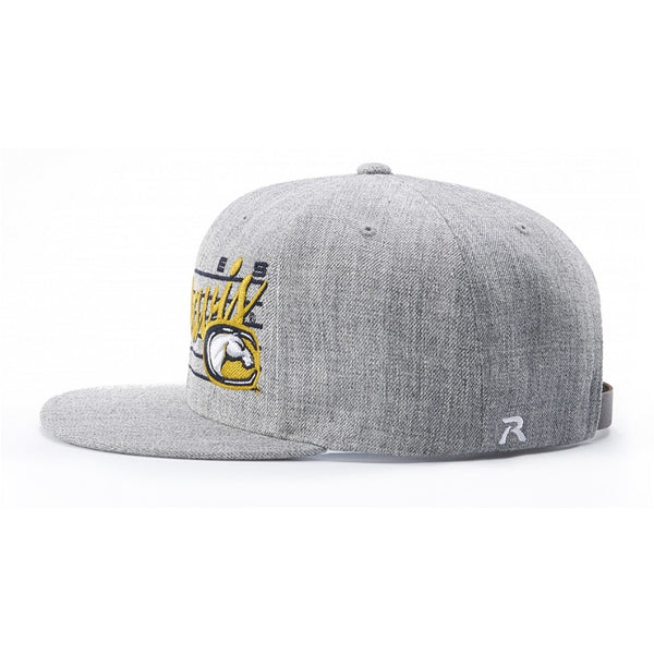 Richardson Wool Flatbill Snapback with Adjustable Leather Strapback