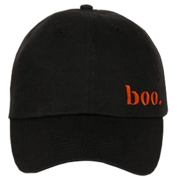 Embroidered Halloween Boo Logo Strapback Dad Hat