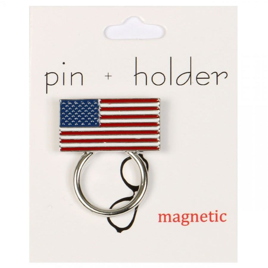 PIN + HOLDER - Flag Magnetic Decorative Pin & Eyeglass Holder