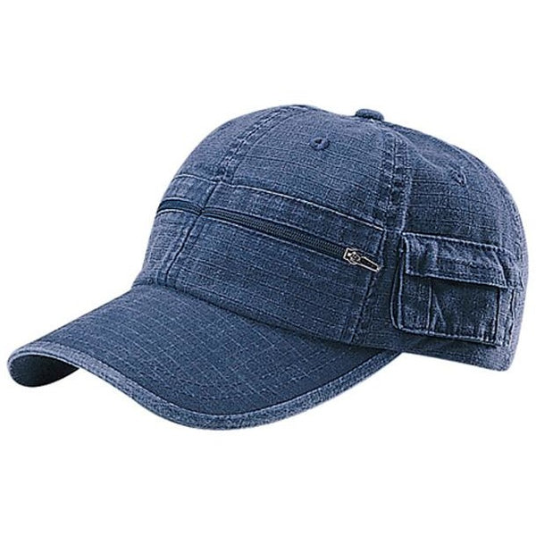 Rip-Stop Fabric Washed Cap