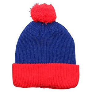 Two Tone Thick Knitted Winter Pom Beanie