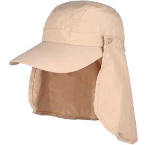 Summer Bucket Cap Style with Removable Back Flap