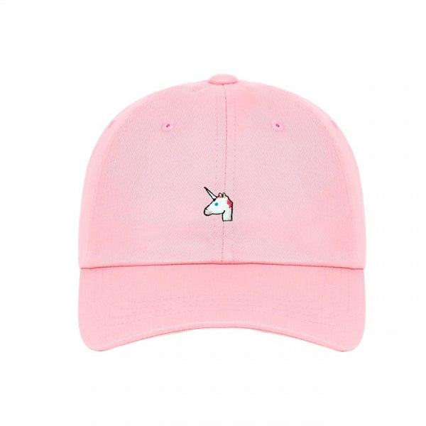 Embroidered Unicorn Emoji Unstructured Dad Cap