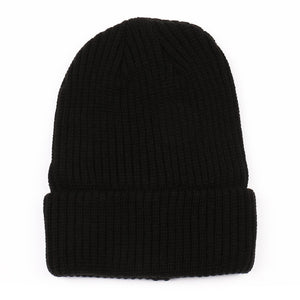 Solid Thermal Thick Knitted Winter Beanie