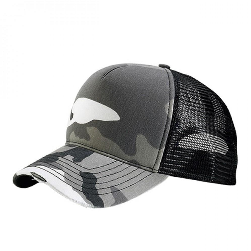 Summer Camouflage Distressed Mesh Trucker Washed Adjustable Cap