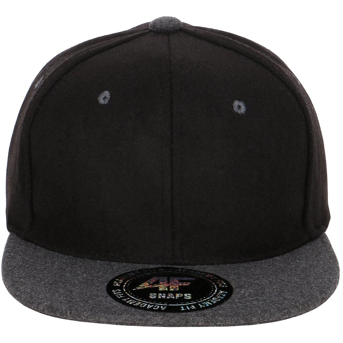 Classic Wool Flatbill with Leather Strapback