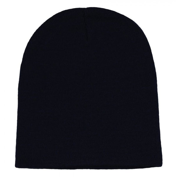 "Plain 8.25"" Long Knitted Beanie"