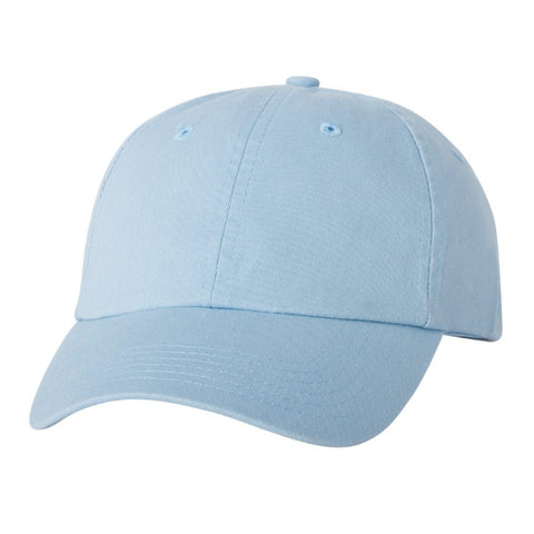 Adult Bio-Washed Cotton Unstructured Dad Hat w/ Adjustable Strapback