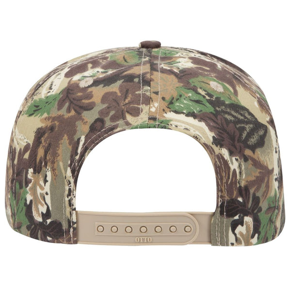 Camouflage Cotton Twill Low Crown Golf Style Snapback Cap