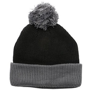 17d73e8d0ca Two Tone Thick Knitted Winter Pom Beanie – 2040USA