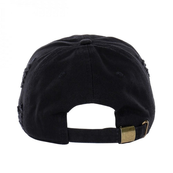 6 Panel Low Profile Vintage Distressed Curved Visor Buckle Back Closure