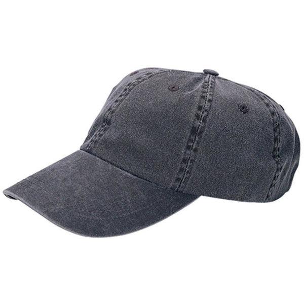 Low Profile Unstructured Pigment Dyed Cotton Twill Adjustable Strapback Baseball Cap
