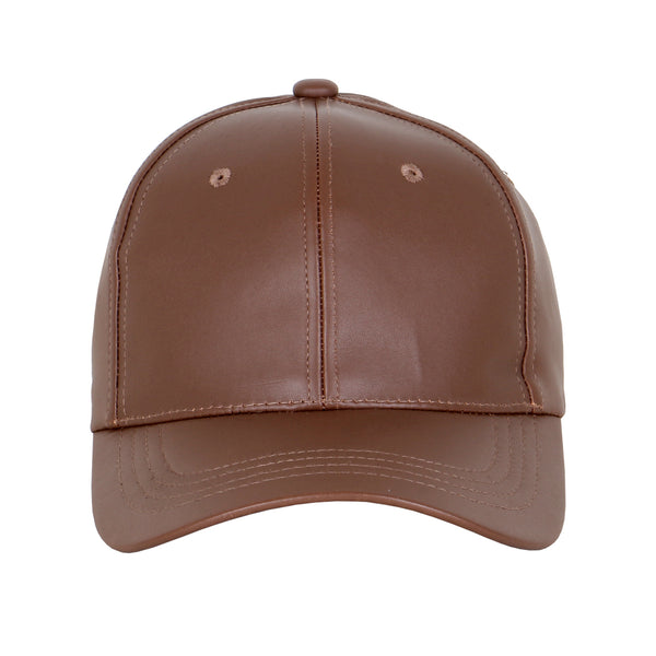Leather Low Profile Strapback Hat