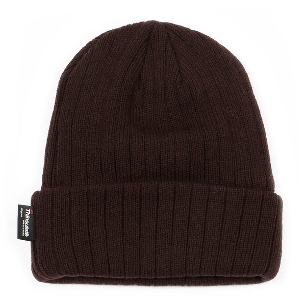 Winter Thermal Thinsulate Warm Knit Ribbed Cuffed Beanie