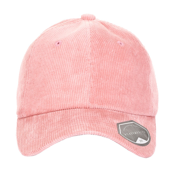 Corduroy Unstructured Curved Bill Adjustable Strapback Dad Hat Cap
