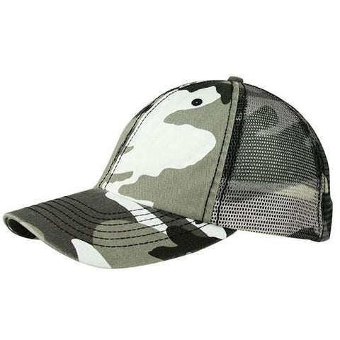 ca490391e76 Enzyme Washed Camouflage Mesh Trucker Cap