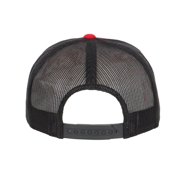 Custom Embroidered Bill on Flexfit Trucker Mesh Hat