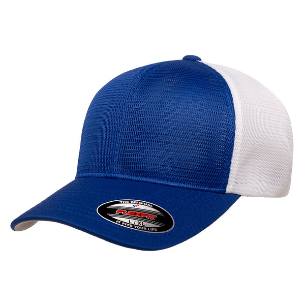 Flexfit Unstructured Two-Tone 6-Panel Omnimesh Cap w/ Permacurv Visor