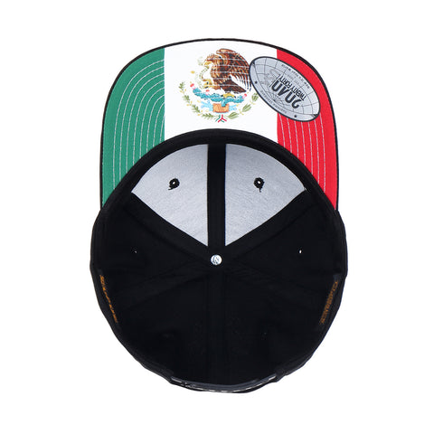 Flexfit Yupoong The Classic 6 Panel Snapback Custom Sublimated Mexico Flag Undervisor