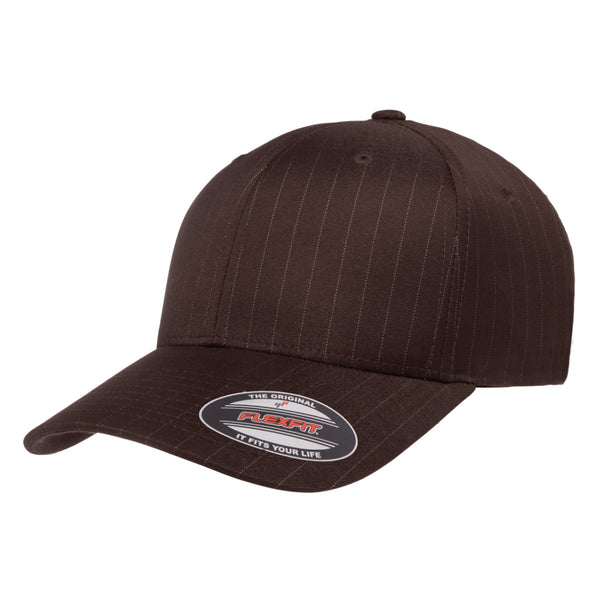 Flexfit Pinstripe Curved Brim Hat