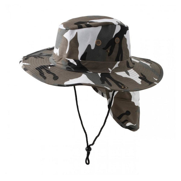 Bucket Hat Outback Style w/ Neck Protection - 9 Colors