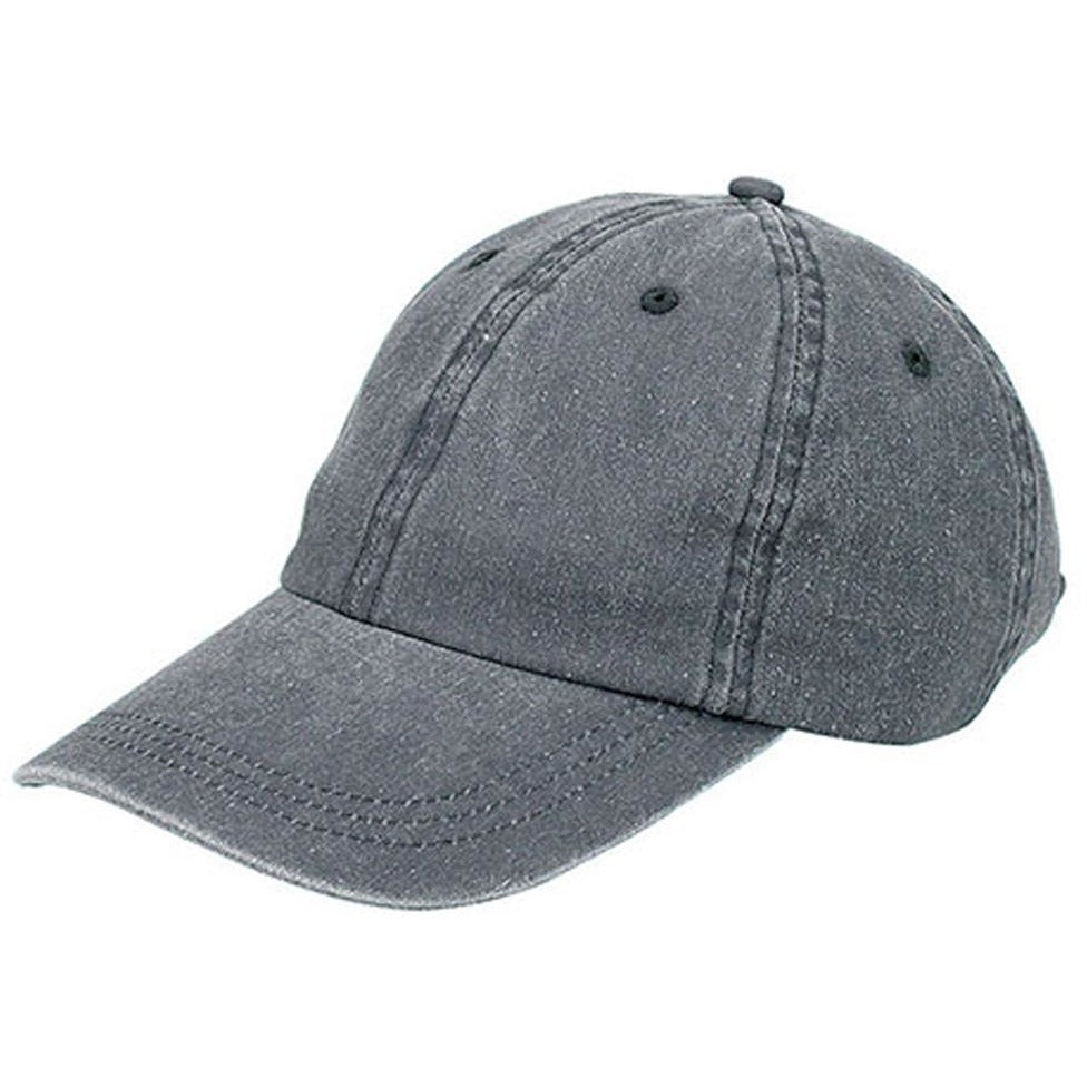 9aa4b1dd75fd85 Low Profile Unstructured Pigment Dyed Cotton Twill Adjustable Strapback  Baseball Cap