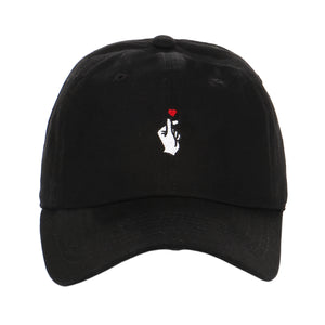 Embroidered Kpop Finger Heart Love Valentines day gift dad hat