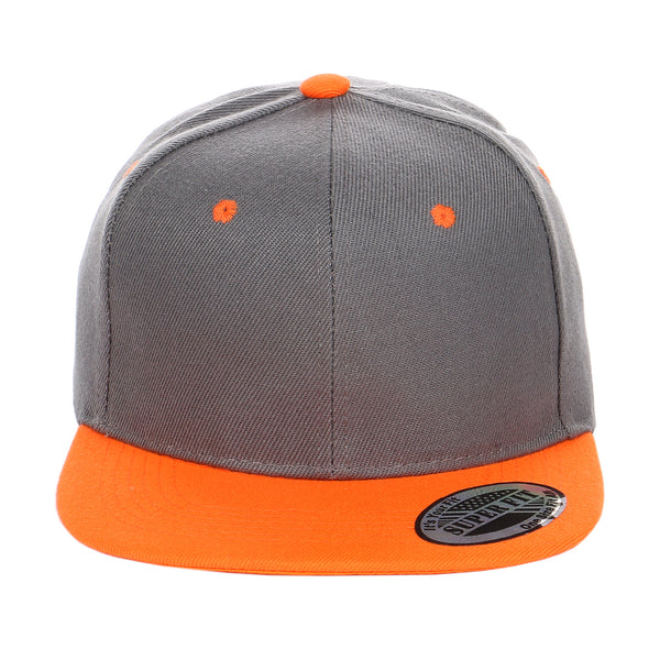 2c595f50c81 ... Two-Tone Blank Adjustable Flat Bill Plain Snapback Hats - More Colors  ...