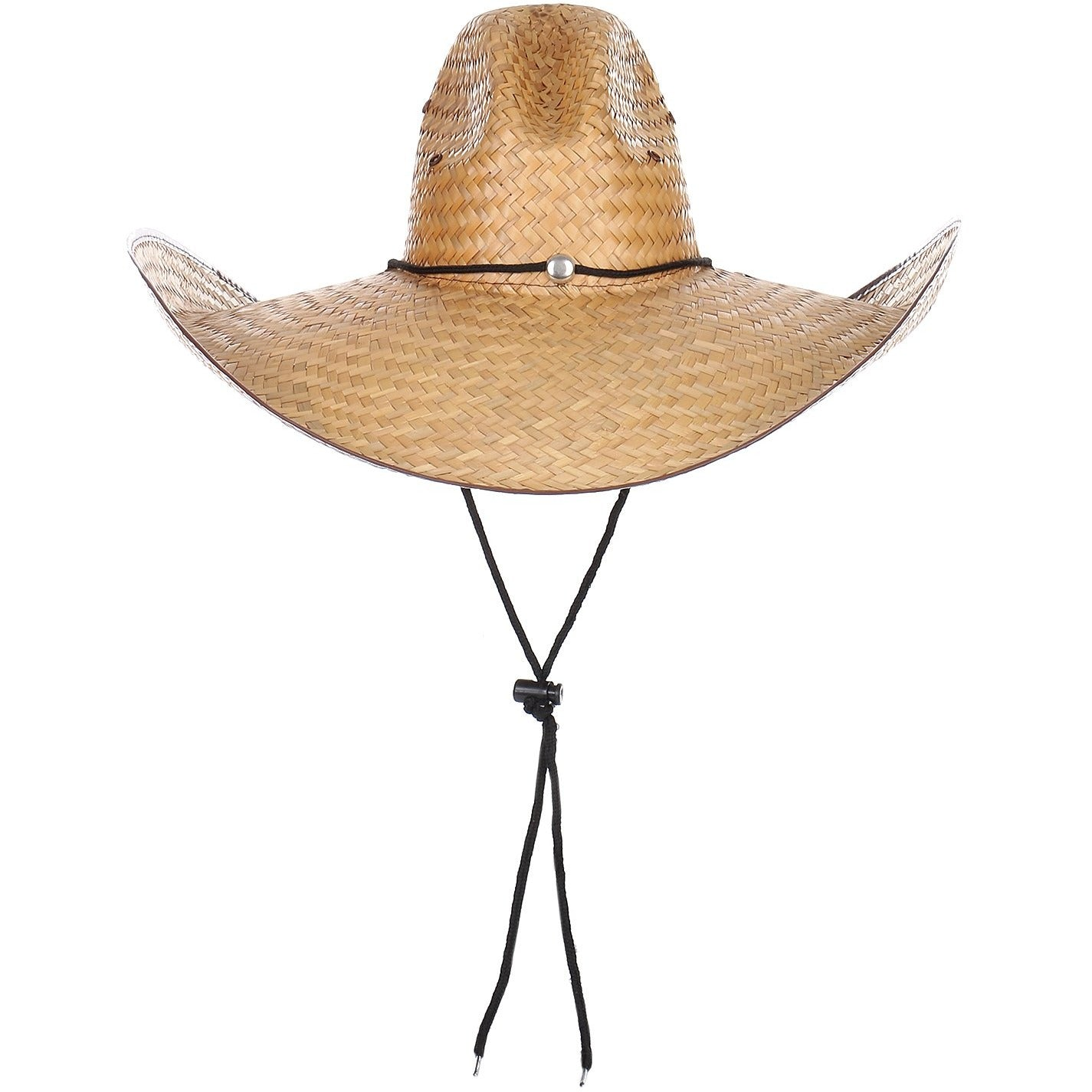 100% Straw Cowboy Oversize Hat with Drawstring