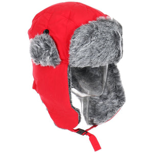 Wholesale Winter Unisex Knit Bomber Hat w/ Faux Fur Trim