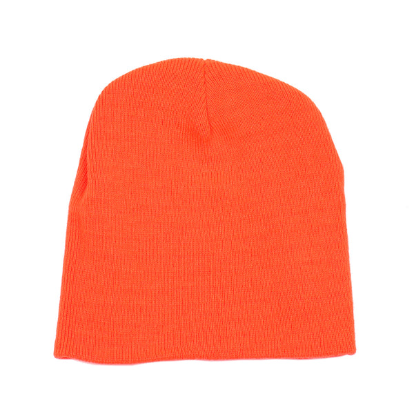 "Plain 8.25"" Short Knitted Beanie"