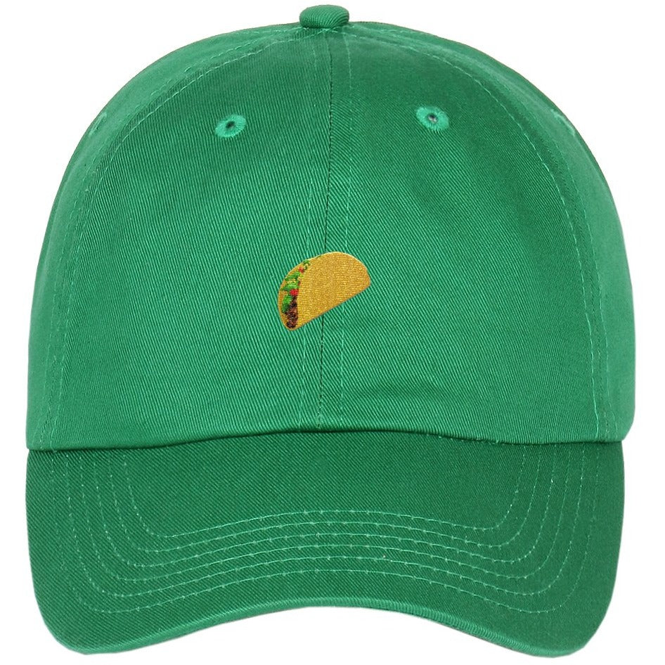 bb465c83d5a Taco Emoji Embroidered on Unstructured Dad Hat  HATS  HATS  HATS ...