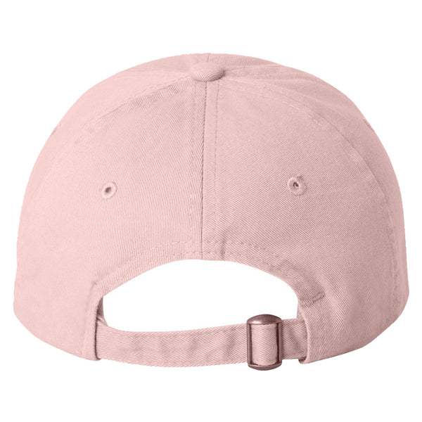 """Just Peachy"" Embroidered Solid Adjustable Strapback Dad Hat"