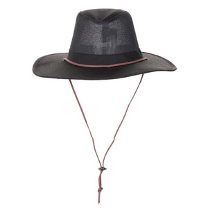 Cotton Twill Brim & Mesh Crown Fedora Safari Hat